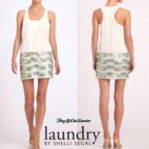 Laundry by Shelli Segal chiffon sequin sz0